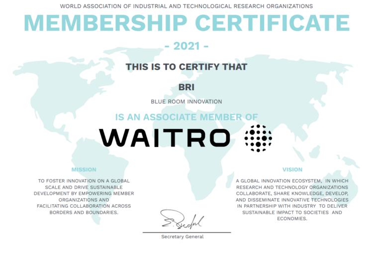 wairo blue room innovation certificate